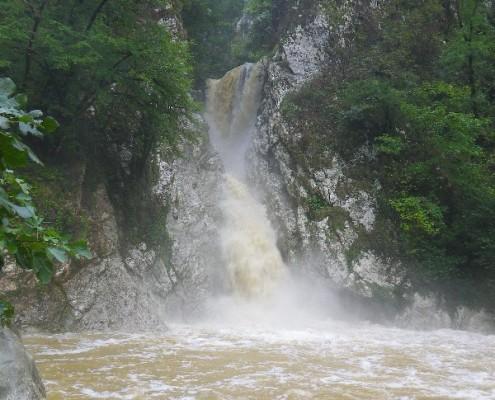 Агурское ущелье после дождя