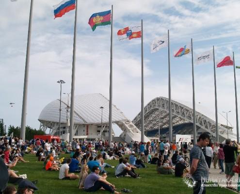 Народные гуляния в Олимпийском парке