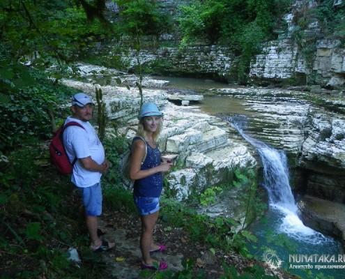 Водопад в Мокром каньоне Псахо