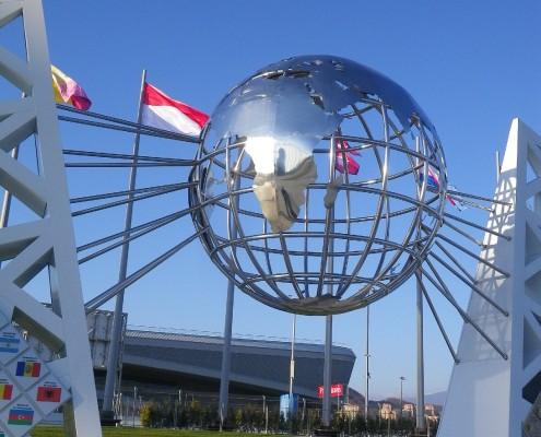 Памятник годовщине Олимпийских игр