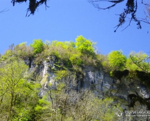 Стены каньона реки Кудепста