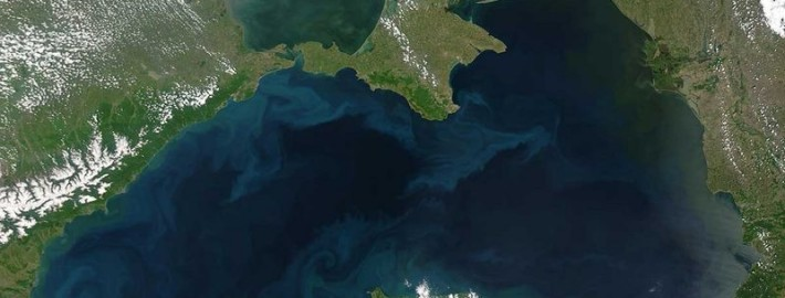 Черное море с орбиты