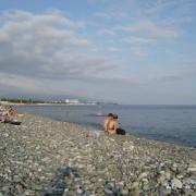 Пляж на Имиритинской низменности