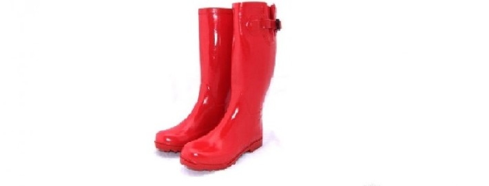 Красные резиновые сапоги