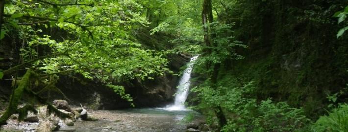 Лесной водопад Ивановский