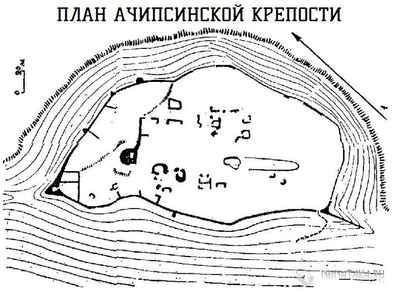 План Ачипсинской крепости