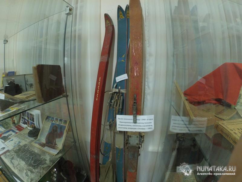 Экспозиция музея, посвященная туризму