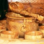 В поход с деревянной посудой
