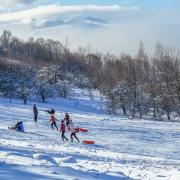 Снежная горка на хребте Азиш-Тау