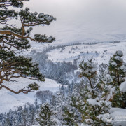Вид со скалы Утюг, плато Лагонаки